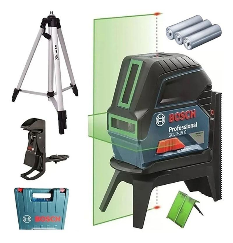 Nivel Laser Verde Bosch GCL 2-15G Com Tripé