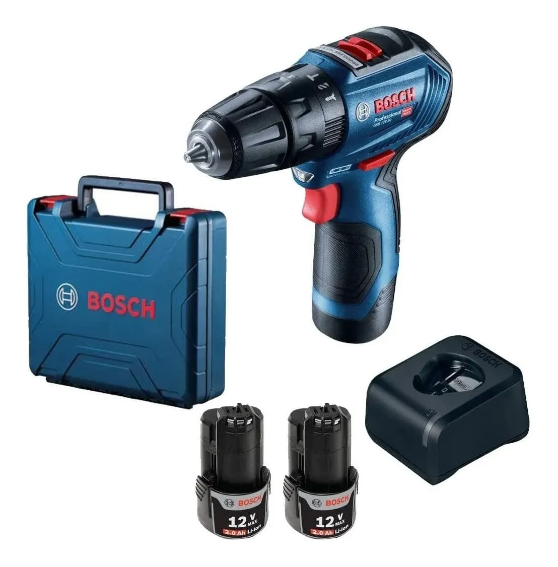 Parafusadeira e Furadeira de Impacto Bosch 12V 3/8 GSB 12V-30 Brushless