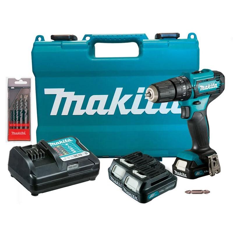 Parafusadeira e Furadeira de Impacto Makita 12V 3/8 HP333DWYE-P Edição Especial com 3 Baterias
