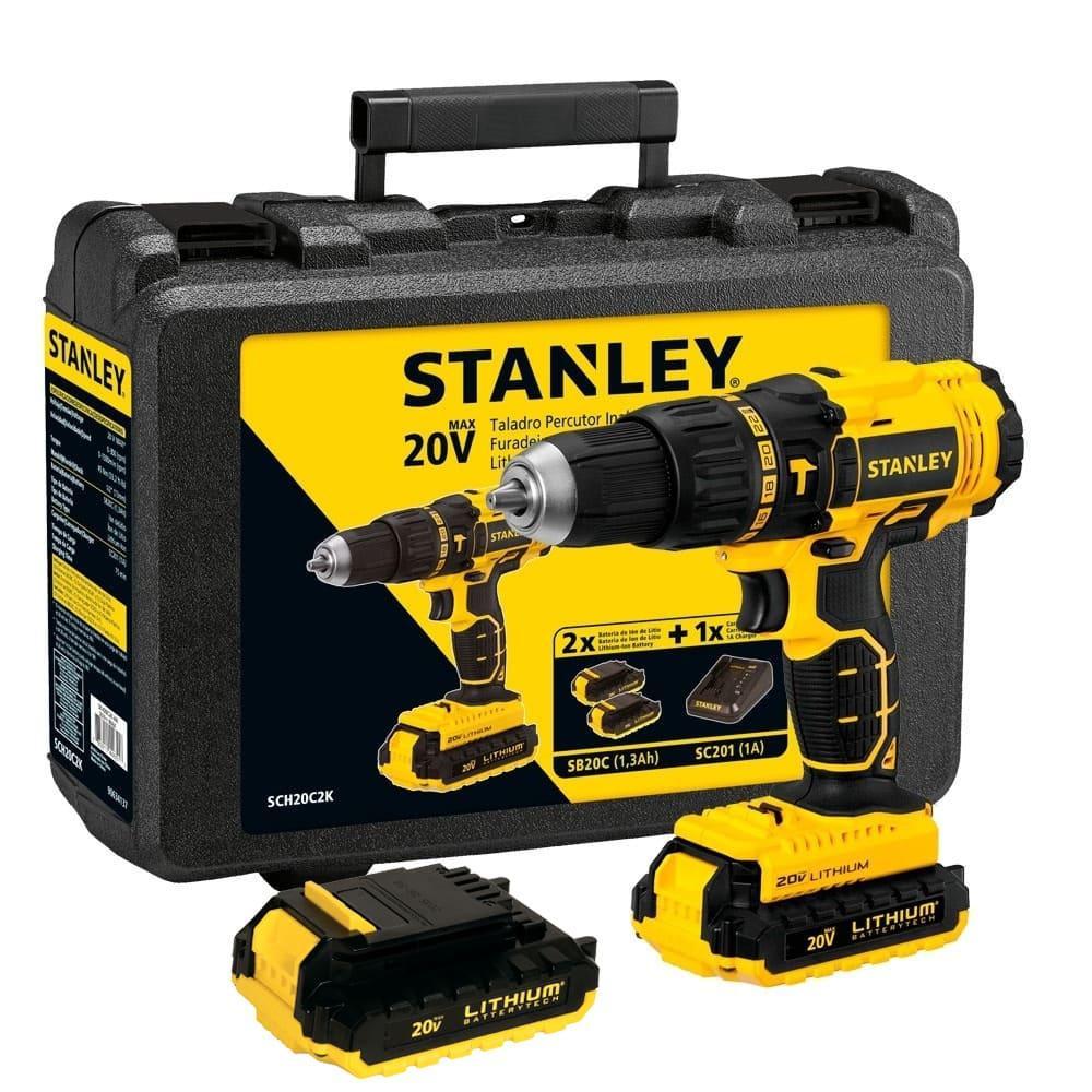 Parafusadeira e Furadeira de Impacto Stanley 20V 1/2 SCH20C2K Bivolt