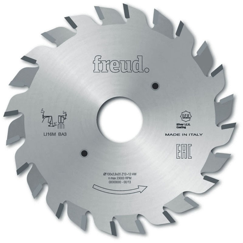 Riscador para Esquadrejadeira 120 X 2,8-3,6 F22 12+12 Freud LI16MAB3