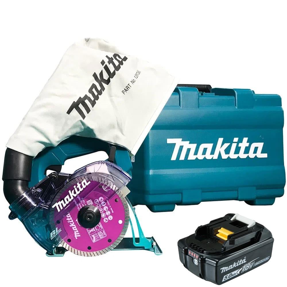 Serra Mármore Bateria 18V Makita DCC500ZKX1-P Com Bateria 18V