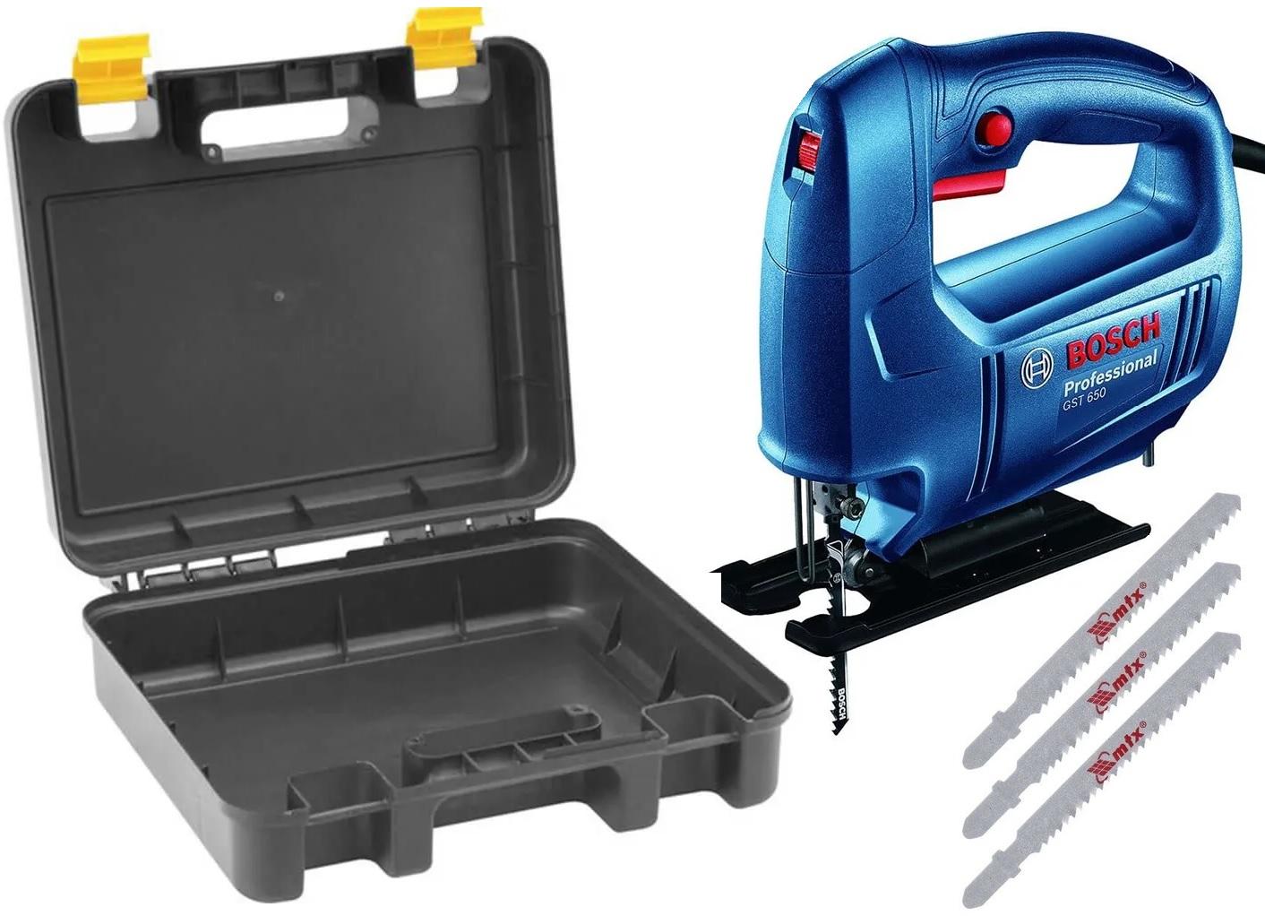 Serra Tico Tico Bosch GST 700 500W 220V com Caixa e Jogo de Laminas