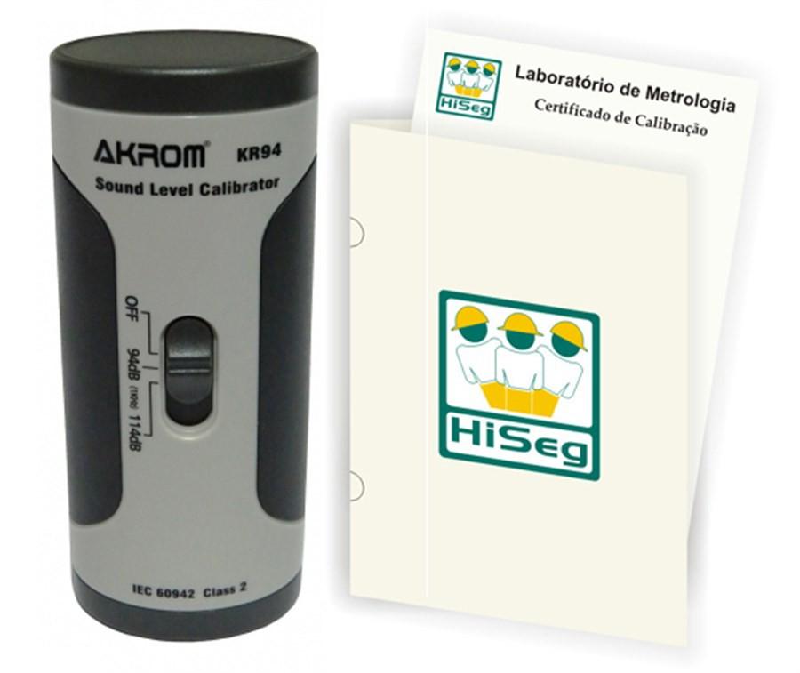 Calibrador Acústico para Decibelímetros e Dosímetros com certificado, modelo KR94