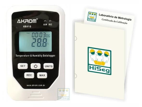 DATALOGGER DE TEMPERATURA E UMIDADE COM INTERFACE USB, MODELO KR410