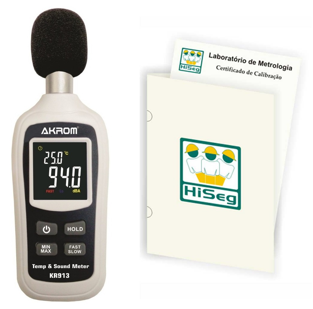 Decibelímetro Digital com temperatura, modelo KR913