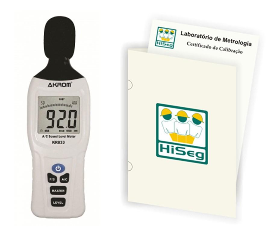 KR833 - Decibelímetro Digital Portátil com certificado