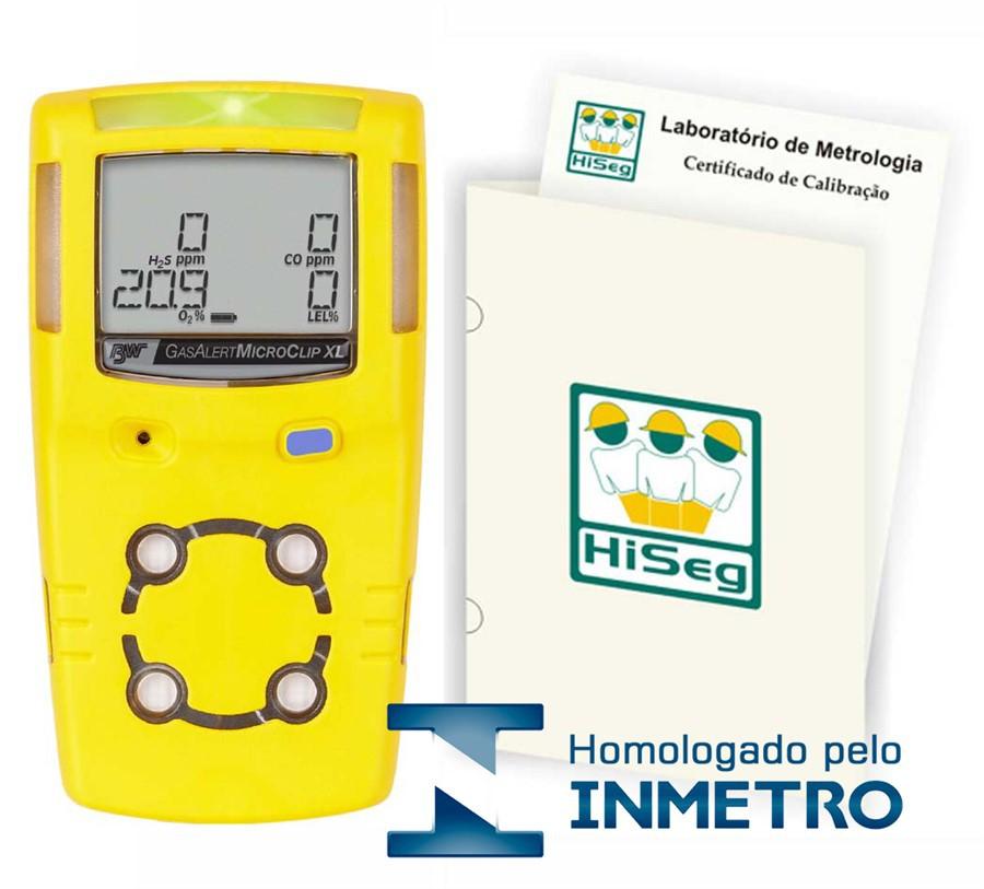 Detector Multigás, modelo GasAlertMicroClip XL para 4 gases (O2, CO, LEL e H2S)