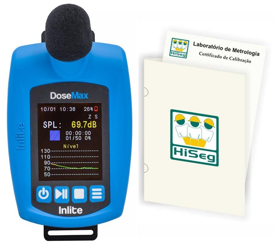 DoseMax - Dosímetro de ruído digital com filtro de 1/1 e 1/3 de oitavas com certificado