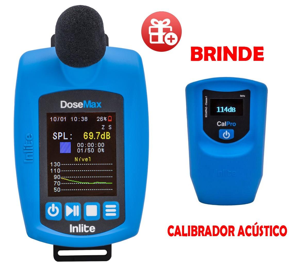Dosímetro de ruído digital com filtro de 1/1 e 1/3 de oitavas, modelo DoseMax