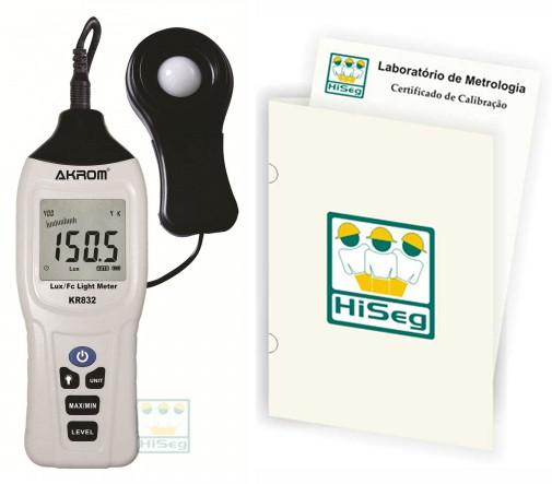 Luxímetro Digital com sensor externo (0 - 400.000 lux), modelo KR832