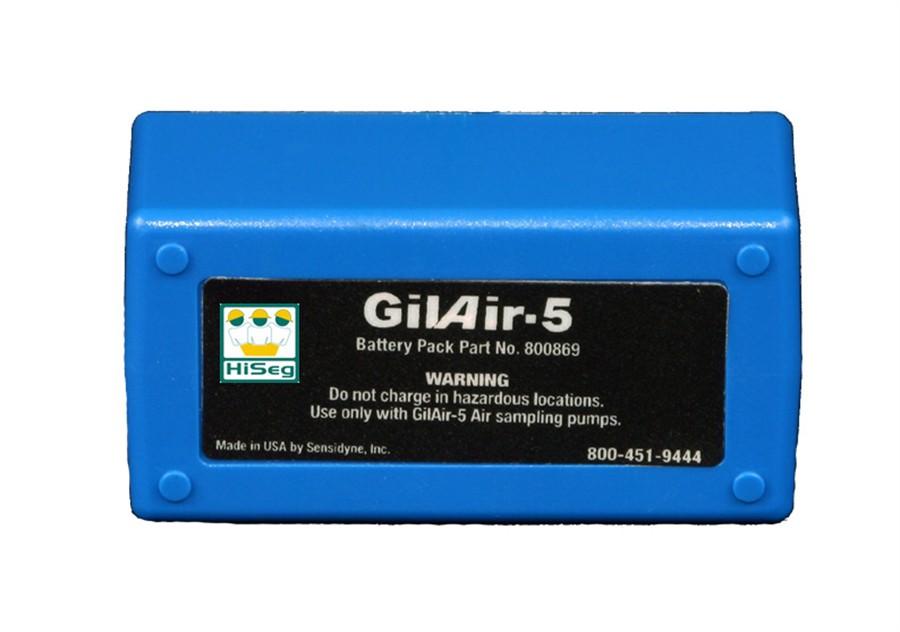 Manutenção na bateria da bomba de amostragem modelo Gilair-5