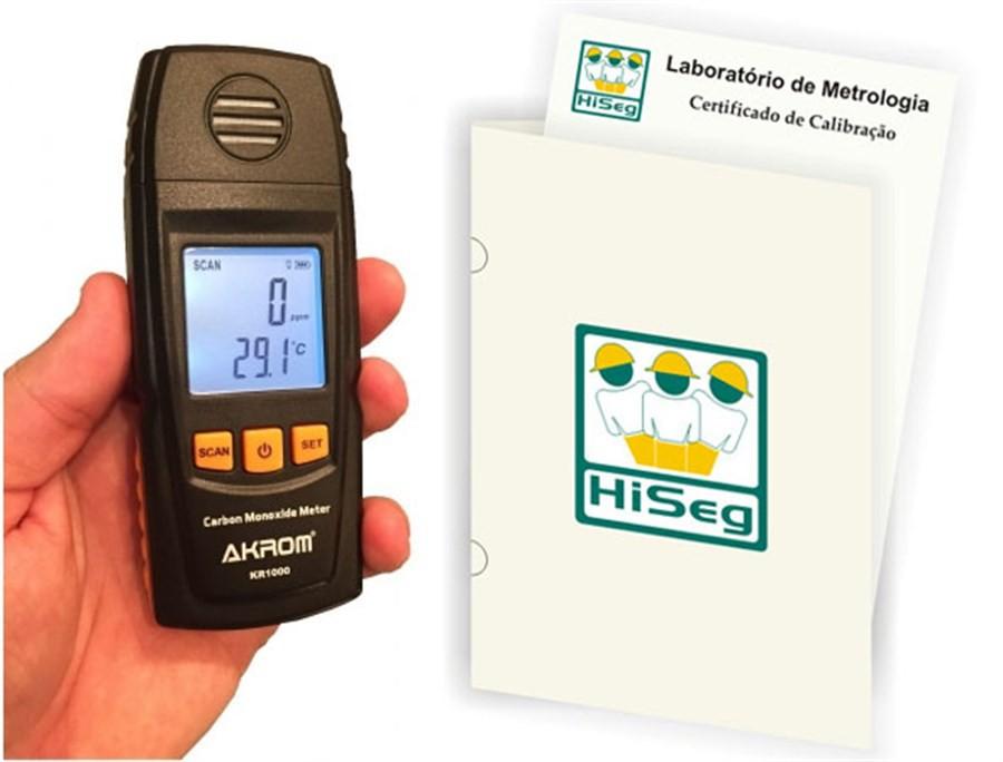 Medidor de Monóxido de Carbono (CO) e Temperatura, modelo KR1000