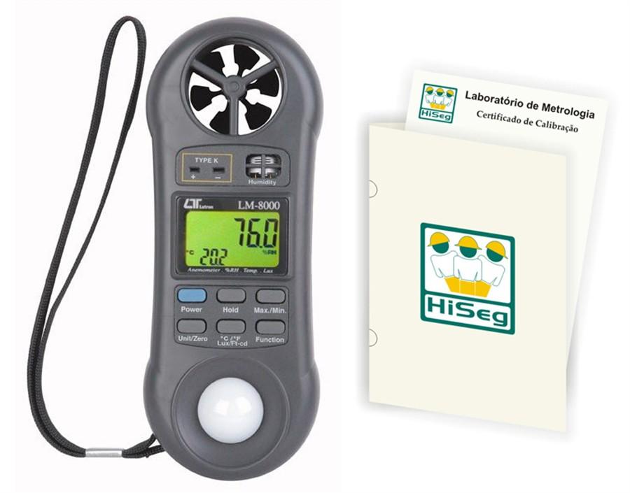 Medidor Multifuncional 4X1 (Termo-Higro-Anemômetro e Luxímetro) modelo LM-8000