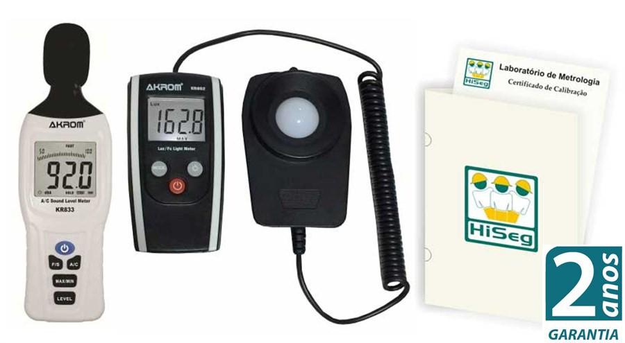 Pacote Promocional 1 - Decibelímetro modelo KR833 e Luxímetro modelo KR802