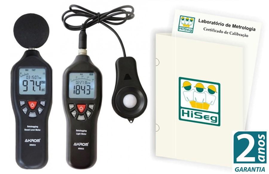 Pacote Promocional 3 - Kit Datalloger, Decibelímetro mod. KR853 e Luxímetro mod. KR852