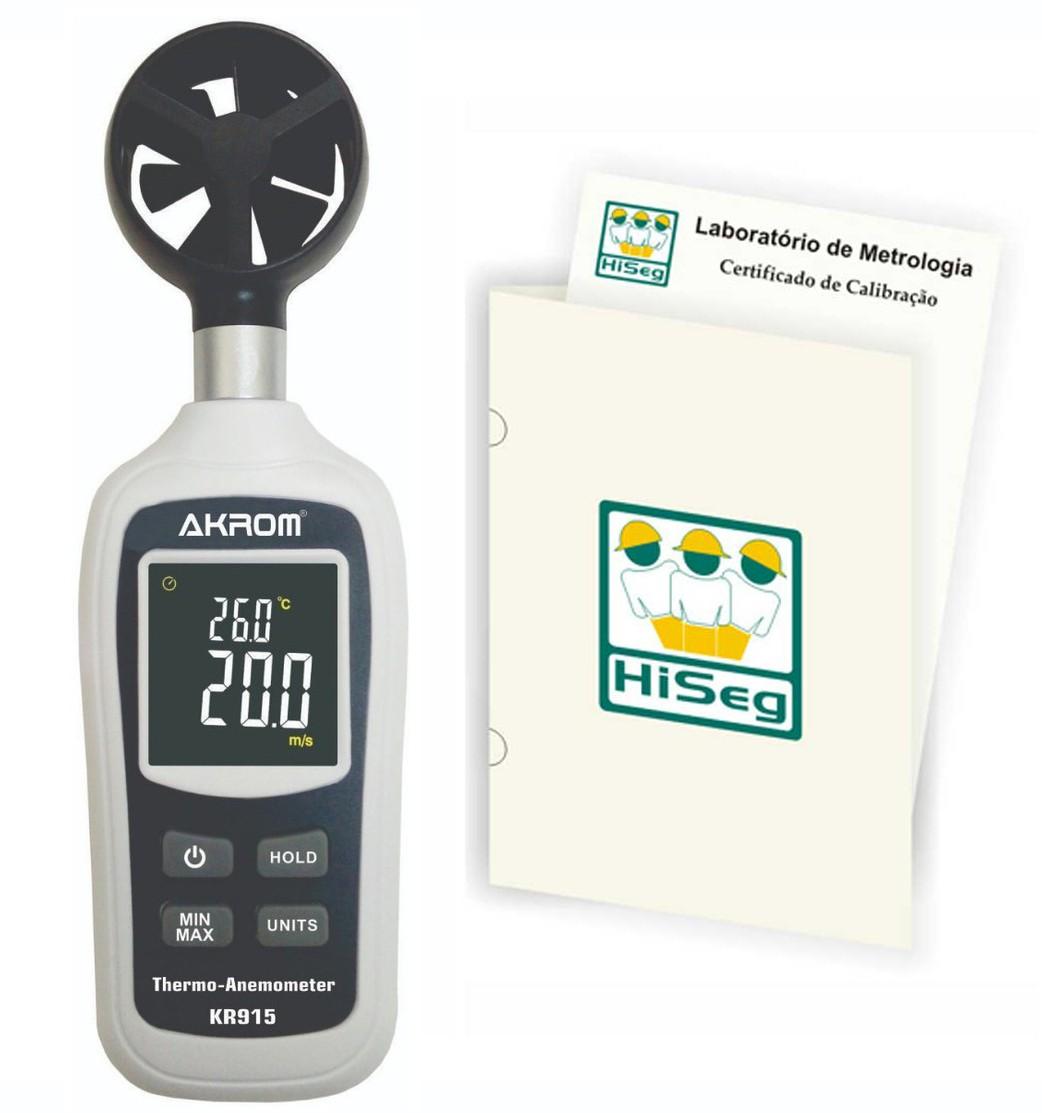 KR915 - Termo-Anemômetro Digital e visor colorido com certificado