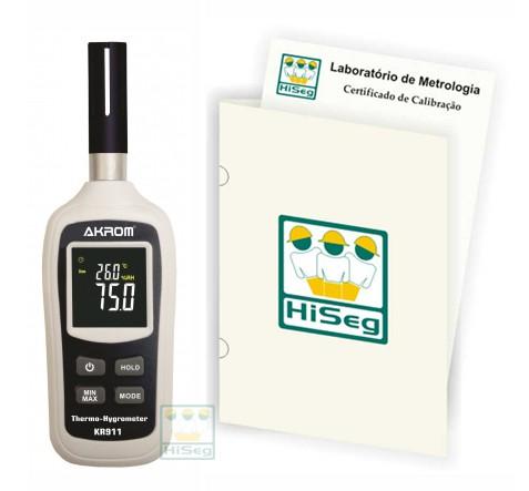 KR911 - Termo-Higrômetro com indicação de Ponto de Orvalho e Bulbo Úmido com certificado