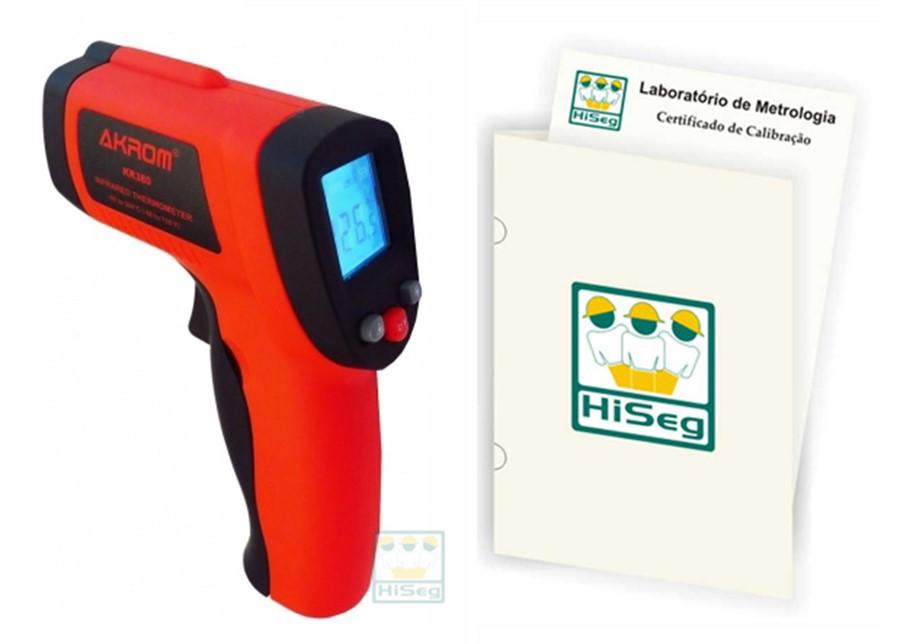 Termômetro Infravermelho Digital, modelo KR380 (-50ºC a 380ºC)