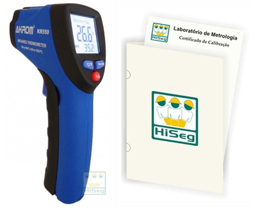 Termômetro Infravermelho Digital, modelo KR550 (-50ºC a 550ºC)