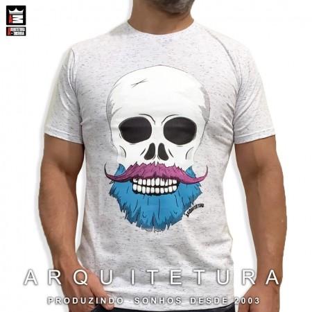 Camiseta Arquitetura da Moda estampa: Caveira Barber Style