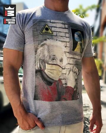 Camiseta Arquitetura da Moda estampa: Einstein de Máscara