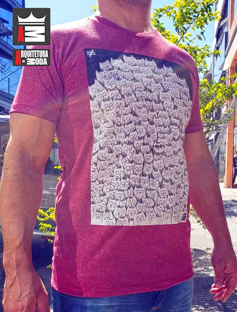 Camiseta Arquitetura da Moda estampa: Cats