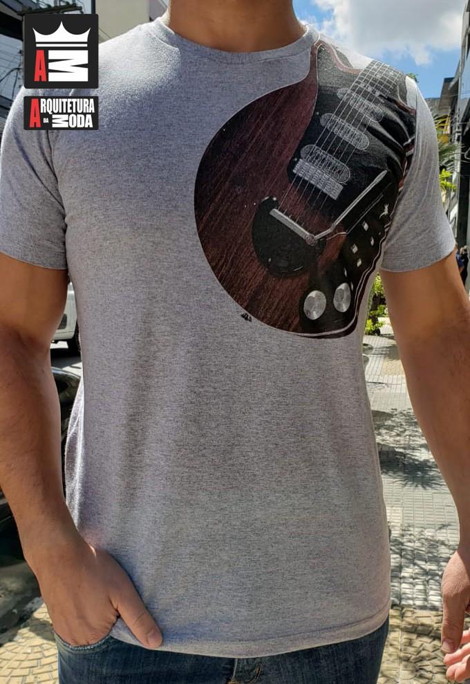 Camiseta Arquitetura da Moda estampa: Guitarra Les Paul