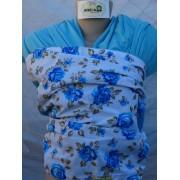 Wrap Sling Malha Azul Claro 100% Algodão com Estampado ou Aplicação