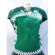 Wrap Sling Malha Verde 100% Algodão com Estampado ou Aplicação