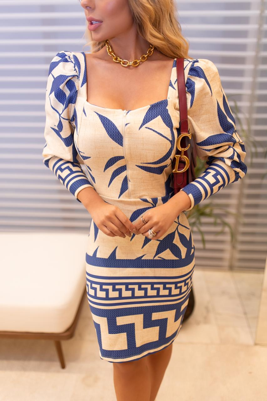 Vestido Suzana Manga Bufante