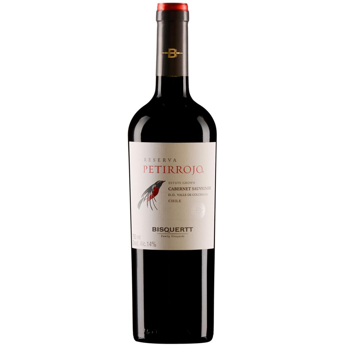 Vinho Bisquertt Petirrojo Reserva Cabernet Sauvignon 750 ml