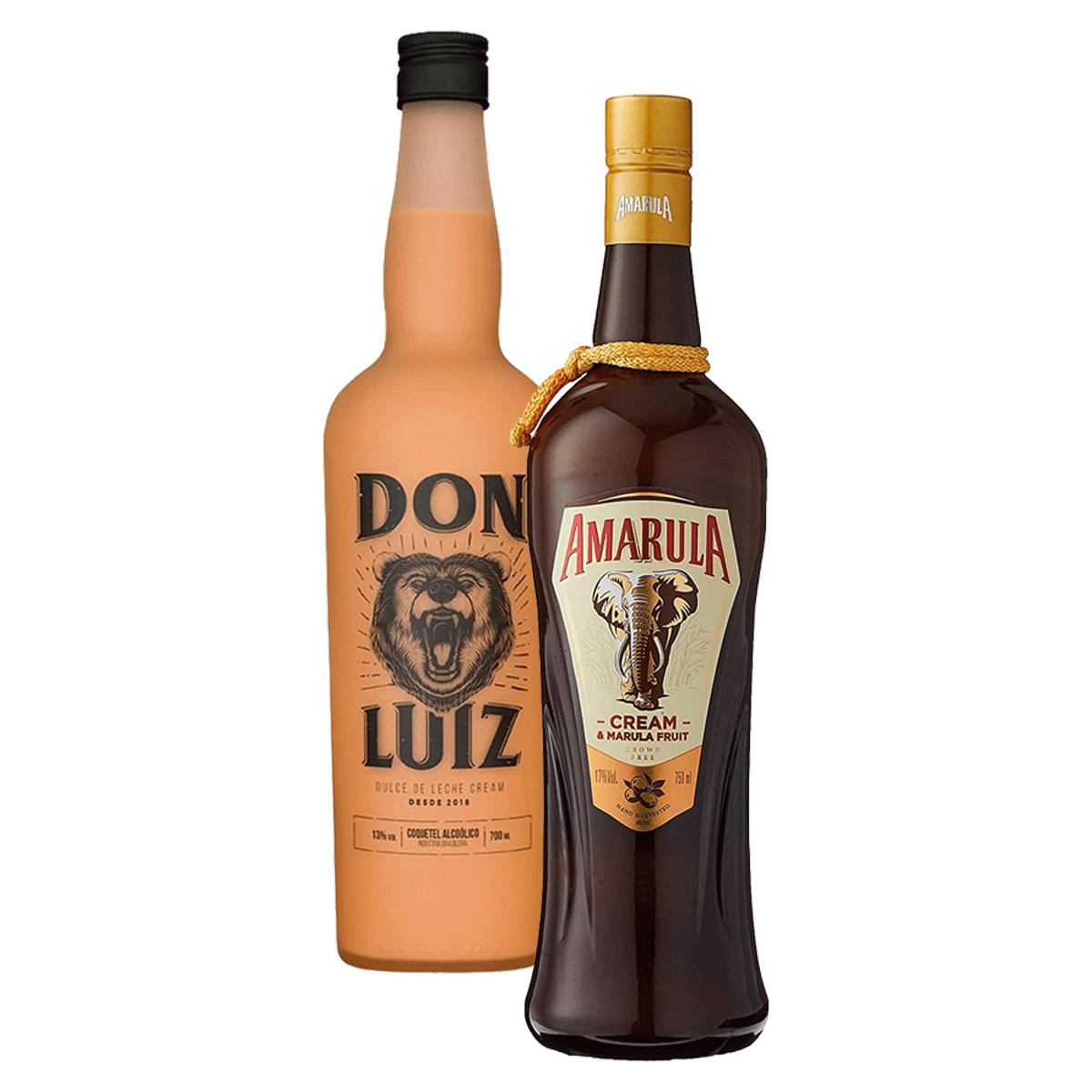 Kit 1 Licor Don Luiz 700ml + 1 Licor Amarula 700ml