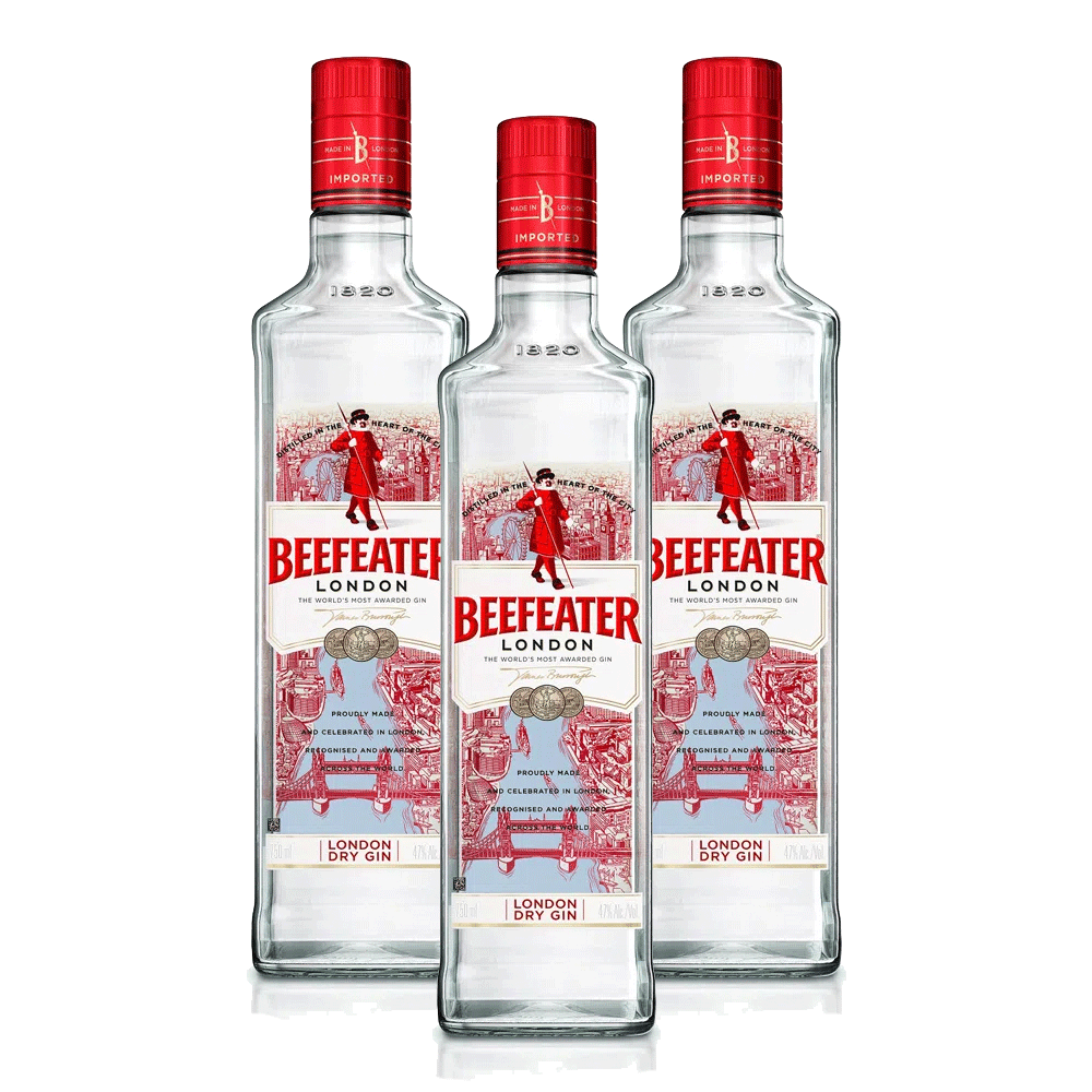 Kit 3 Gin Beefeaters London Dry 750ml