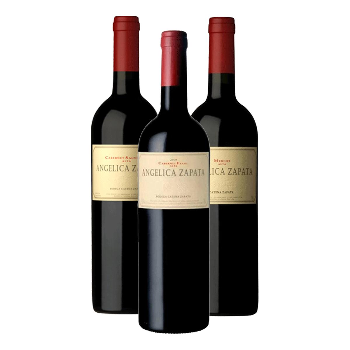 Kit 3 Vinhos Angelica Zapata 750ml (Merlot, Cabernet Sauvignon e Cabernet Franc)