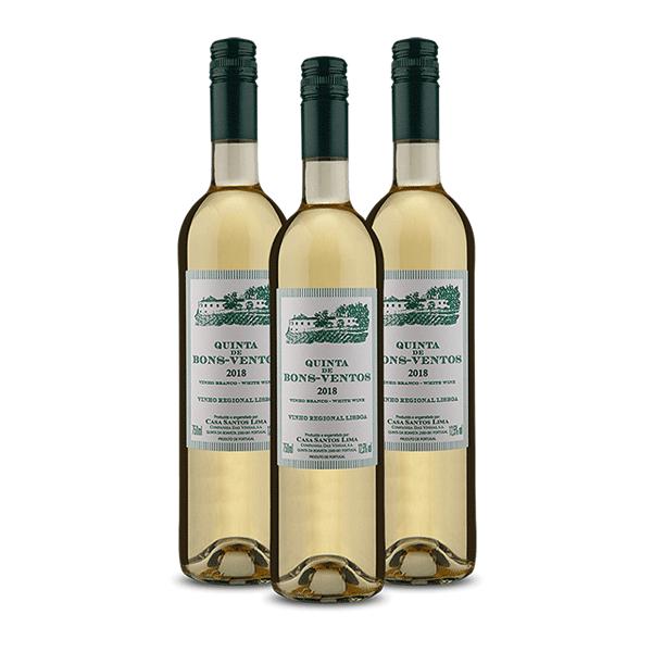 Kit 3 Vinhos Quinta de Bons Ventos Branco 750ml
