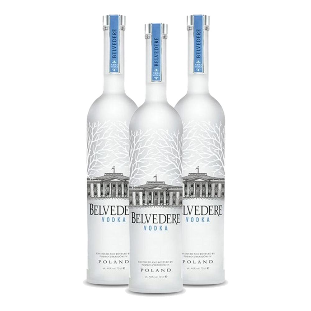Kit 3 Vodkas Belvedere Pure 700ml