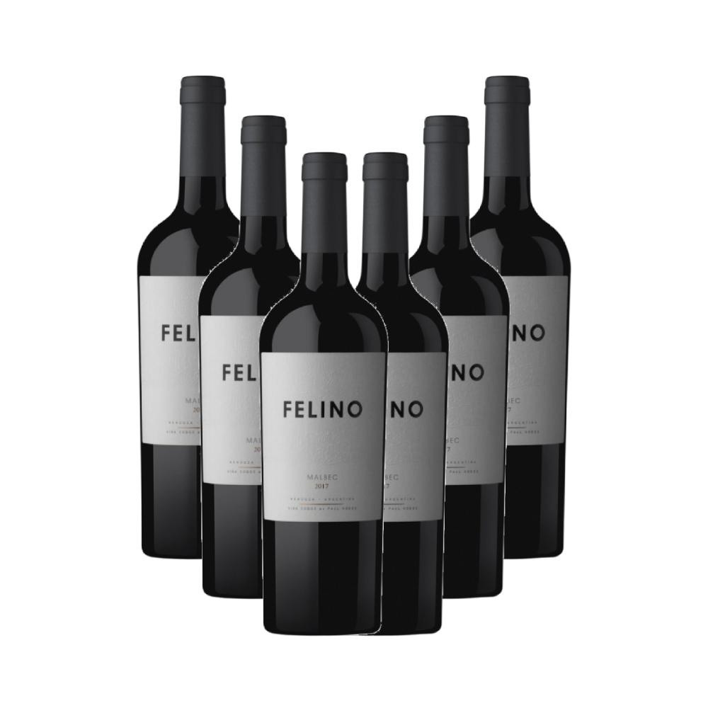 Kit 6 Vinhos Tinto Cobos Felino Malbec 750ml