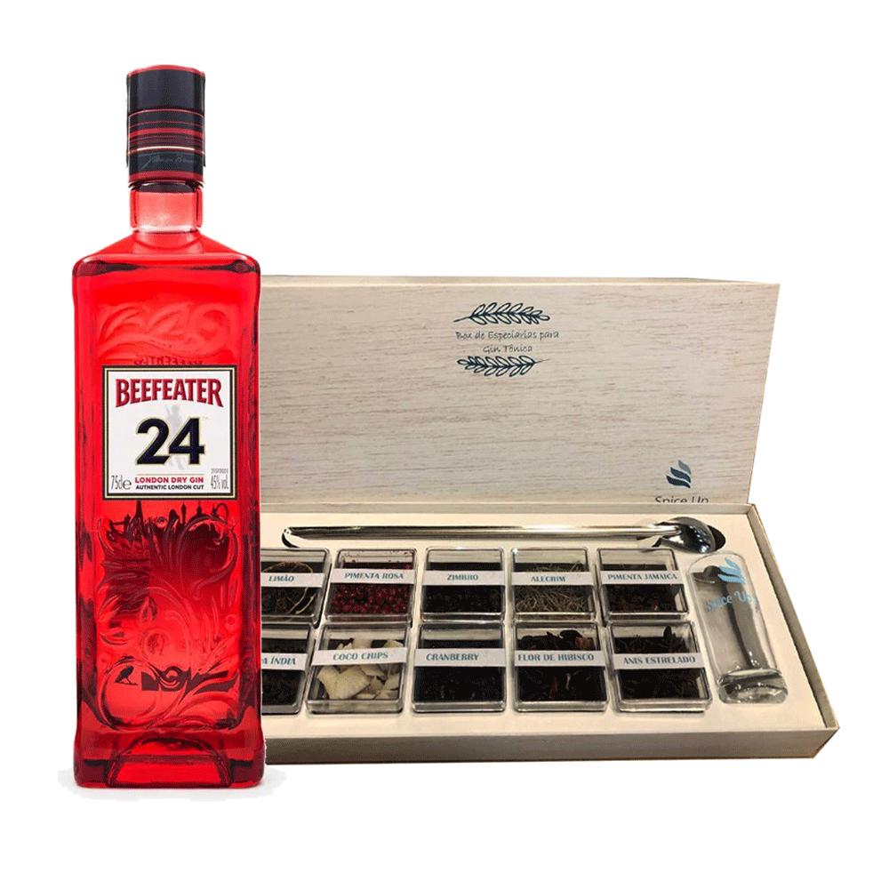 Kit Gin Beefeater 24 750ml + Box Especiarias SpiceUp