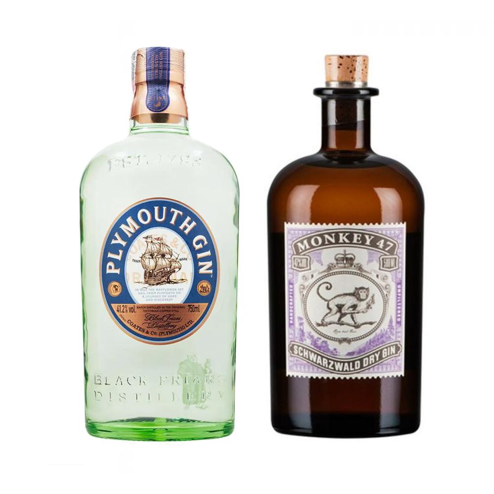 Kit Gin Plymouth 750ml com Gin Gin Monkey 47 500ml