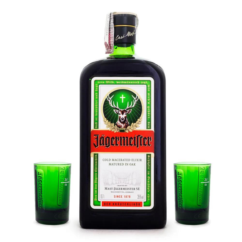 Kit Jagermeister 700ml + 2 copos de shot