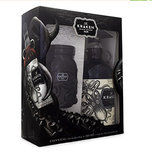 Kit The Kraken Black Spiced Rum 750ml + Copo Exclusivo