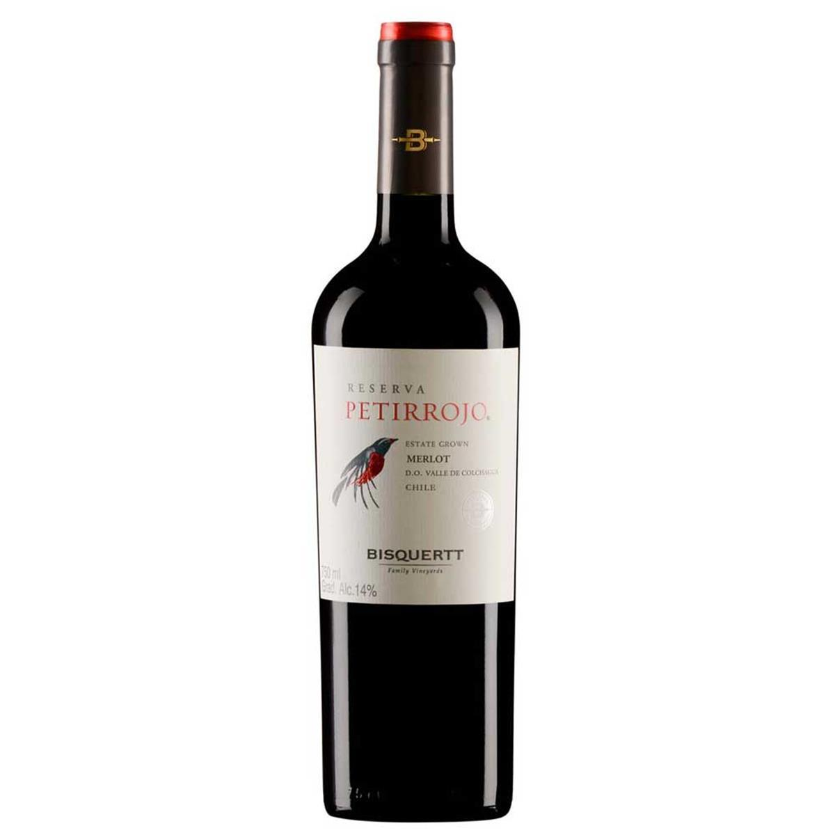 Vinho Bisquertt Petirrojo Reserva Merlot 750 ml