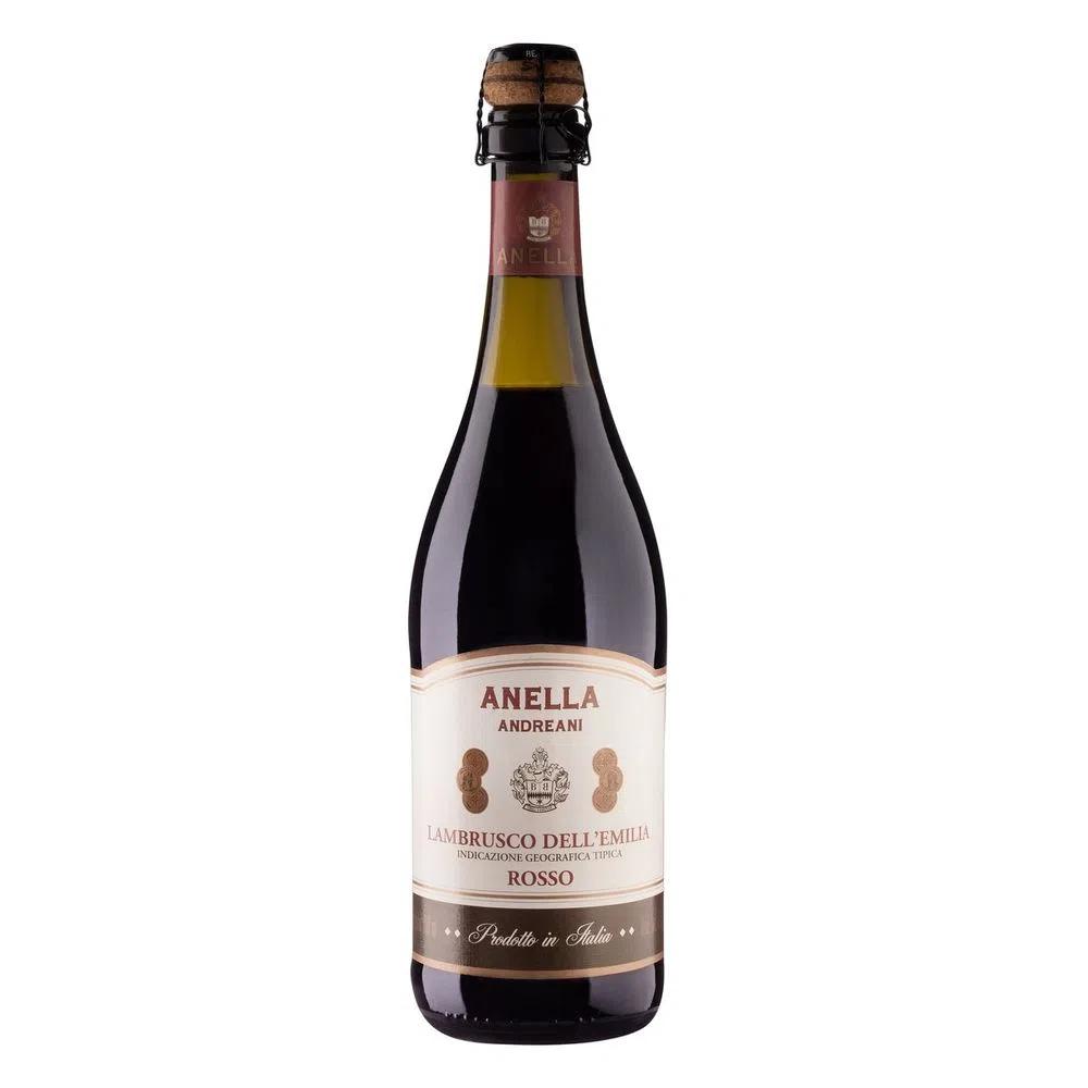 Vinho Tinto Frisante Lambrusco Anella Andreani 750ml