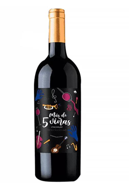 Vinho Tinto Más de 5 Viñas Premium Tempranillo 750ml