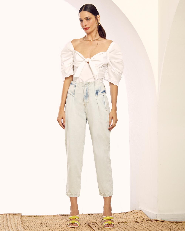 Calça Jeans Bolso Embutido