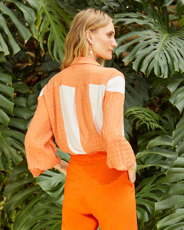 Camisa Bicolor Mix de Texturas