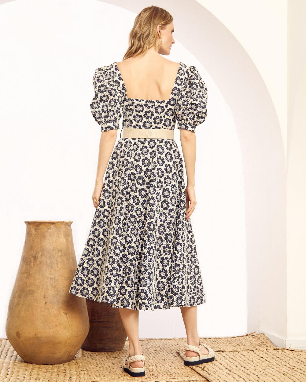 Vestido Laise Detalhe Cinto de Couro
