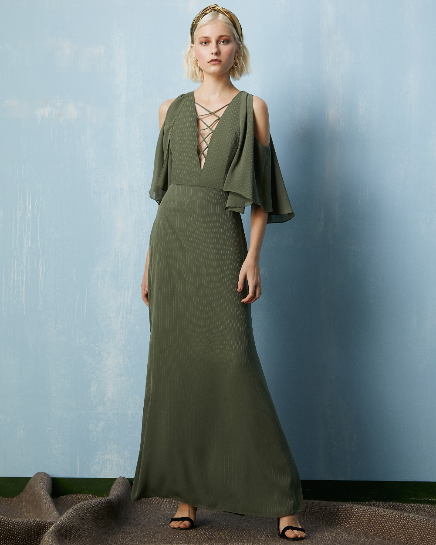 Vestido Longo Bienna Detalhe Decote