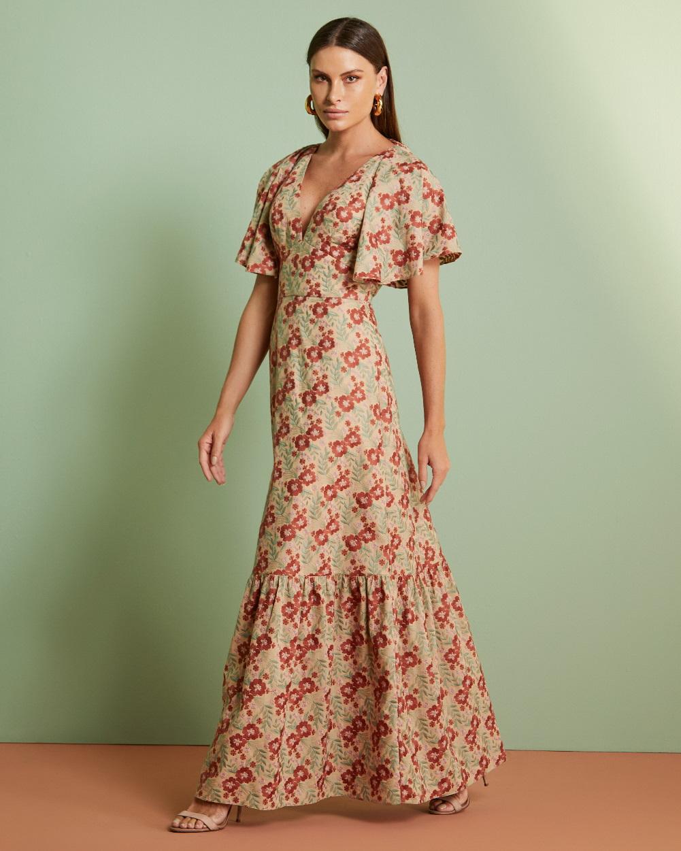 Vestido Longo Laise Floral